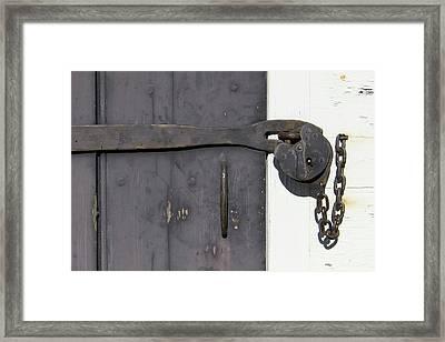 Door Lock Framed Print by Teresa Mucha