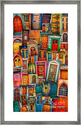 Door Mashup Vertical Framed Print by TK Goforth