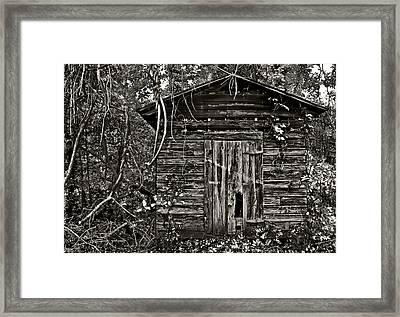 Door Met Foot Framed Print by David A Brown