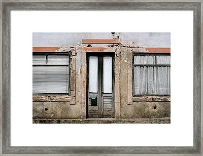 Framed Print featuring the photograph Door No 128 by Marco Oliveira