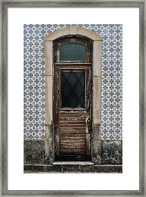 Framed Print featuring the photograph Door No 151 by Marco Oliveira