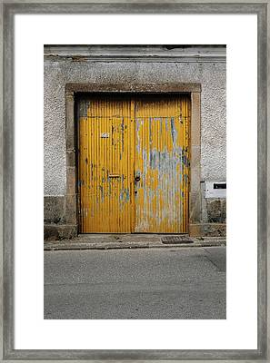 Framed Print featuring the photograph Door No 152 by Marco Oliveira
