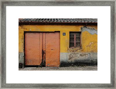 Framed Print featuring the photograph Door No 162 by Marco Oliveira