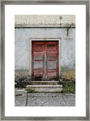 Framed Print featuring the photograph Door No 175 by Marco Oliveira