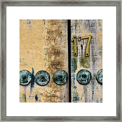Door Number 17 In Mexico Framed Print by Carol Leigh