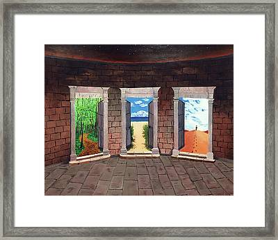 Door Number Three Framed Print