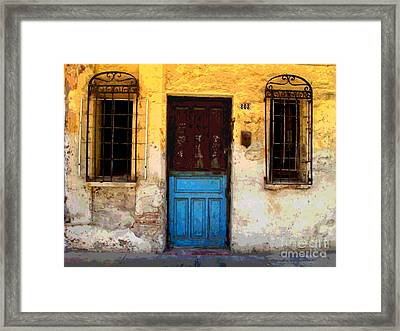 Door On Mariano 2 By Darian Day Framed Print by Mexicolors Art Photography