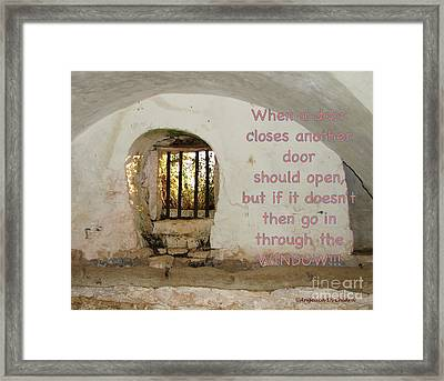 Door Or Window Framed Print