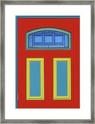 Door - Primary Colors Framed Print