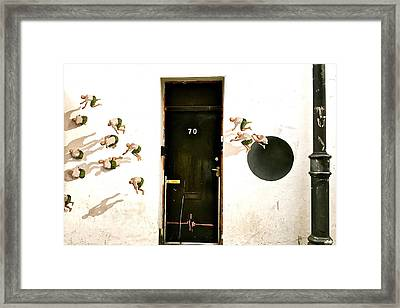 Door Seventy Street Art Framed Print
