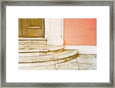 Door Steps Framed Print by Tom Gowanlock