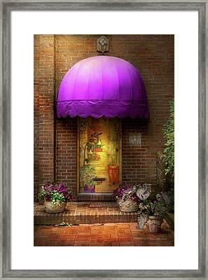 Door - The Door To Wonderland Framed Print by Mike Savad