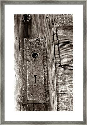 Framed Print featuring the photograph Door To Days Long Gone by Wanda Brandon