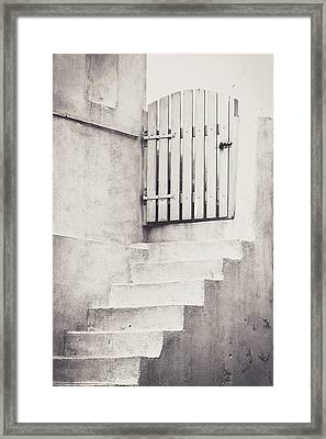 Door To Nowhere. Framed Print