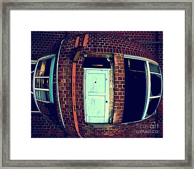 Framed Print featuring the photograph Door To Nowhere by Yulia Kazansky