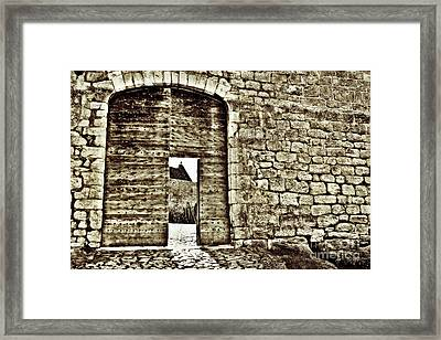 Door To Salvation Framed Print by Paul Topp