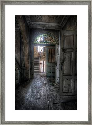 Door To Stairs Framed Print