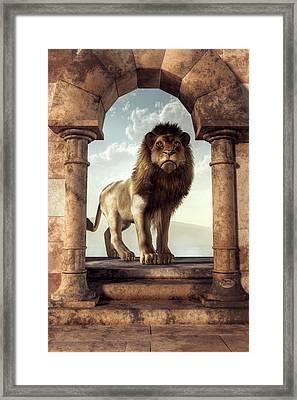 Door To The Lion's Kingdom Framed Print