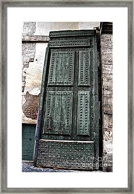 Door To The Roman Gateway Framed Print