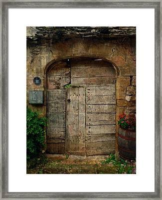 Door To The Secret Garden Framed Print