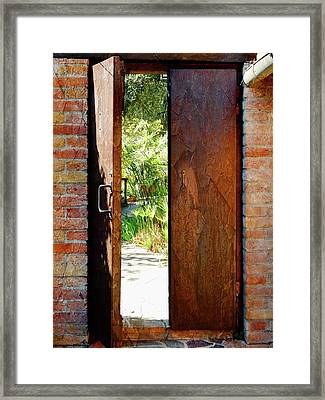 Door To The Secret Garden Framed Print by Dorothy Berry-Lound