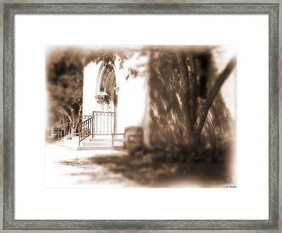 Door To Yesterday Framed Print by Lauren Radke