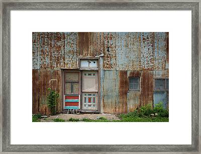 Door, Toronto, Kansas Framed Print