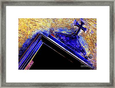 Door With A Cross Framed Print by Adriano Pecchio