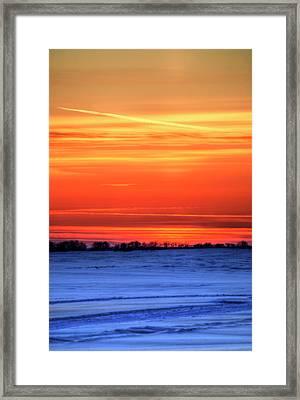 Door With A Window Framed Print by Wayne Stadler