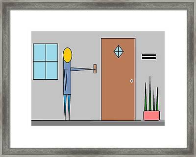Doorbell Framed Print