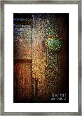 Doorknob Framed Print by Debra Fedchin