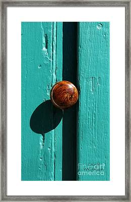 Doorknob With Shadow Framed Print