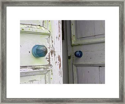 Doorknobs On Corfu Framed Print