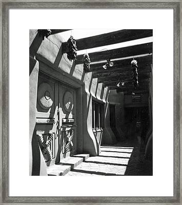 Doors And Shadows Framed Print