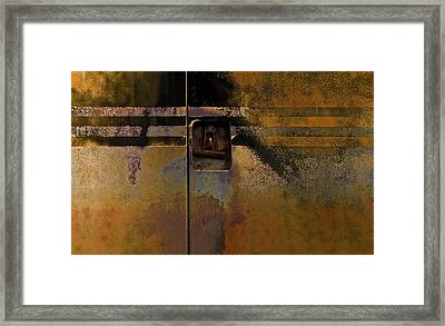 Doors And Stripes Framed Print by Murray Bloom