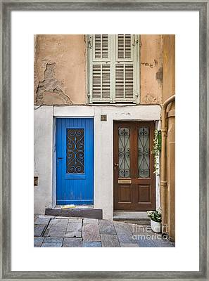 Doors And Window Framed Print