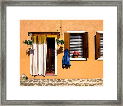 Doors And Windows IIi Burano Italy Framed Print by Carl Jackson