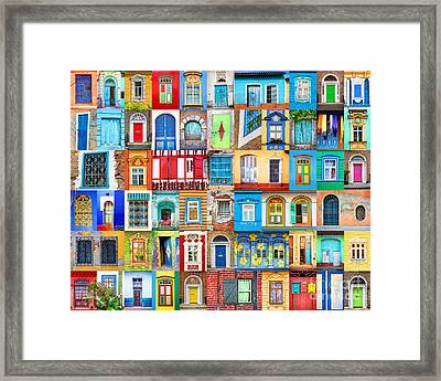 Doors And Windows Of The World Framed Print