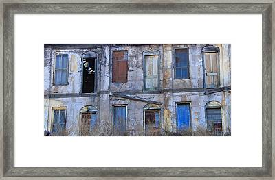 Doors And Windows Framed Print