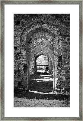Doors At Ballybeg Priory In Buttevant Ireland Framed Print