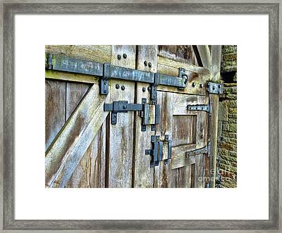 Doors At Caerphilly Castle Framed Print