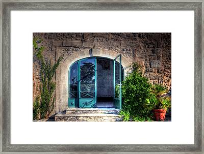 Doors In Provence Framed Print by Tom Prendergast