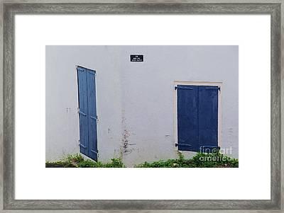 Doors In St. Thomas # 2 Framed Print