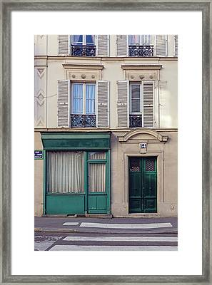 Framed Print featuring the photograph Paris Doors No. 64 by Melanie Alexandra Price