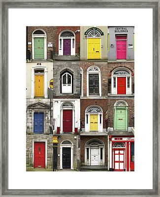 Doors Of Limerick Framed Print by Marie Leslie
