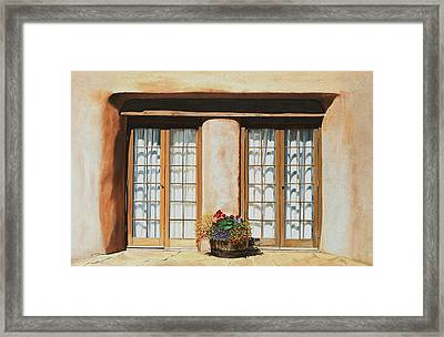 Doors Of Santa Fe Framed Print