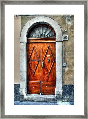 Doors Of Sicily Framed Print by Mel Steinhauer