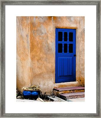 Doors Of Taos Framed Print