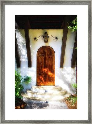 Doors Of The Florida Panhandle # 2 Framed Print by Mel Steinhauer
