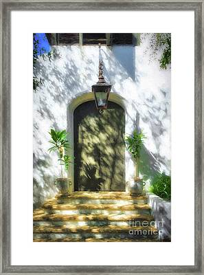 Framed Print featuring the photograph Doors Of The Florida Panhandle by Mel Steinhauer